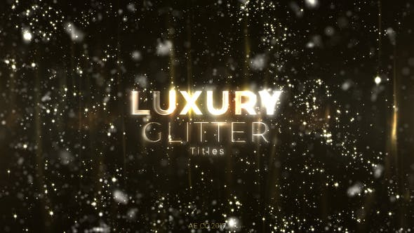 Videohive Luxury Glitter Titles Free Download