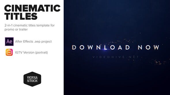 Videohive Cinematic Promo Titles for Insta & Broadcast Free Download