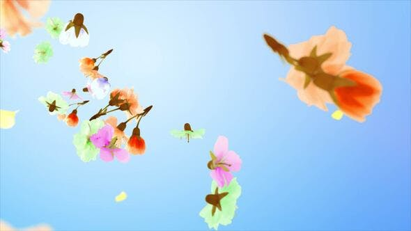 Videohive Flowers and Petals Logo Free Download