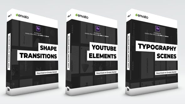 Videohive Typography Scenes, Lower Thirds, YouTube Kit and Shape Transitions Free Download