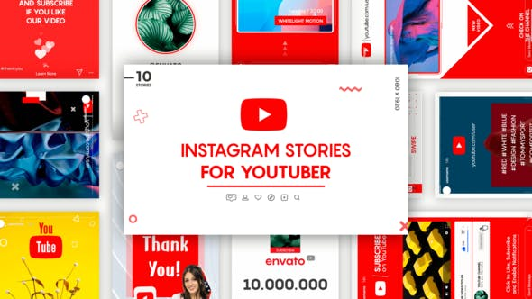 Videohive Instagram Stories for YouTuber 25557565 Free Download