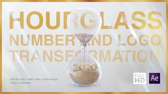 Videohive Hourglass Number and Logo Transformation Free Download