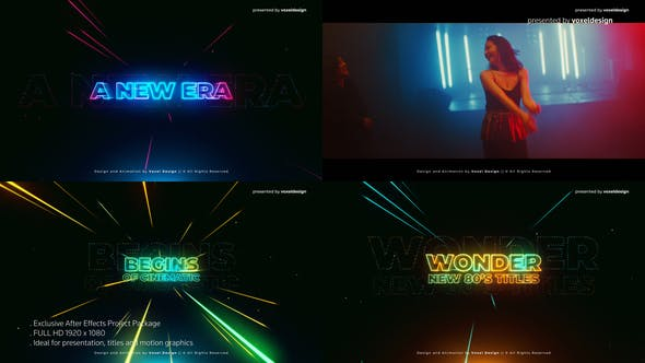 Videohive Wonder 80's Cinematic Titles Free Download