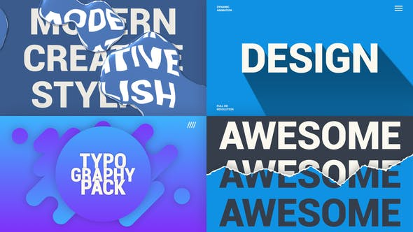 Videohive Creative Typography Pack 25631260 Free Download