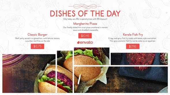 Videohive Restaurant Menu Food Promo Free Download