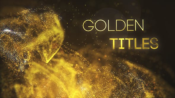Videohive Golden Partilce Titles Free Download