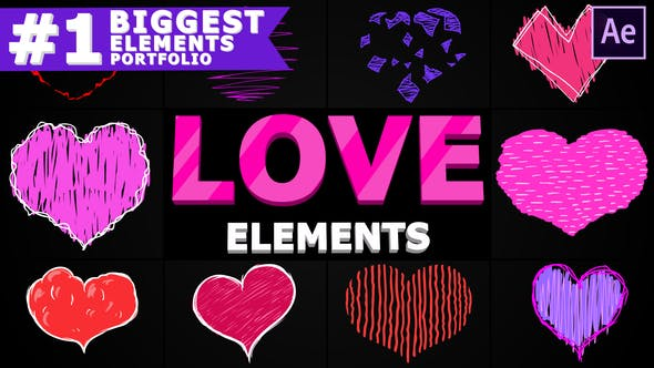 Videohive Cartoon Love Elements | After Effects Free Download