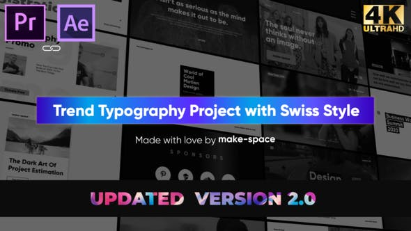 Videohive Swiss Typography Pack – for Premiere Pro | Essential Graphics Free Download