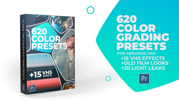 620 Cinematic Color Presets, 15 VHS Video Effects, Old Film Looks