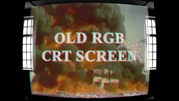 Videohive Old RGB CRT Screen Free Download