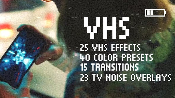 Videohive VHS Effects Pack for Premiere Pro 25689646 Free