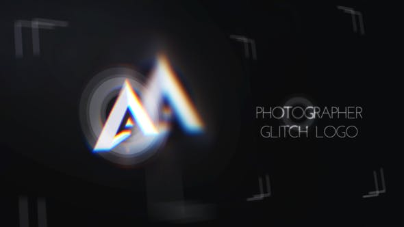 Videohive Minimal Photographer Glitch Logo Free Download