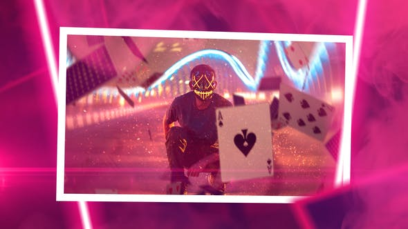 Videohive Neon Slideshow Free Download