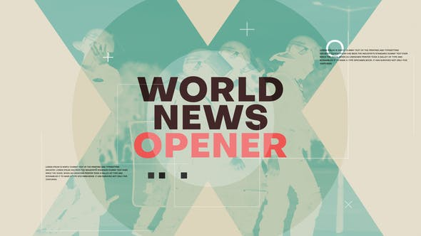 Videohive World News Opener 25773059 Free Download