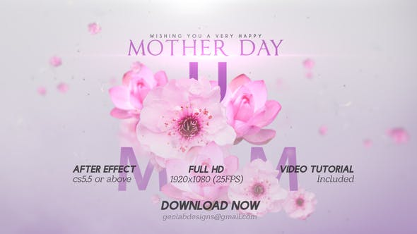 Videohive Mother Day Titles l Mother Day Wishes l Mother Day Template l World Best MOM l MUM Wishes Free Download