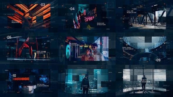 Videohive Sci-Fi Digital Slideshow Free Download