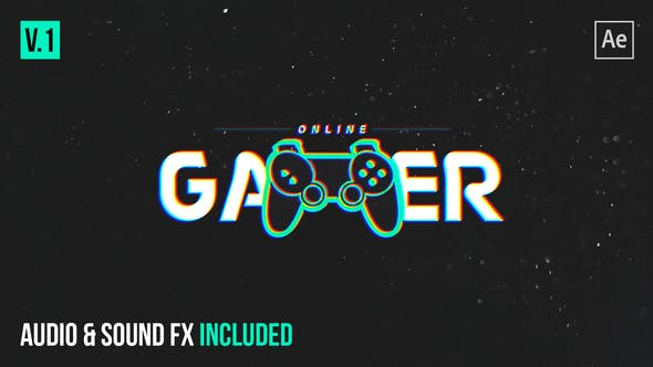 Videohive Gamer Glitch Logo Reveal Free Download