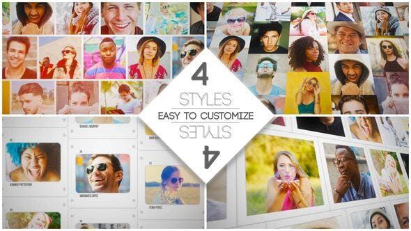 Videohive Mosaic Slides Logo Opener Free Download