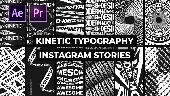 Videohive Kinetic Typography Instagram Stories Free Download