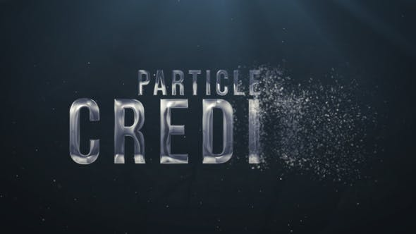 Videohive Particles Credits Free Download