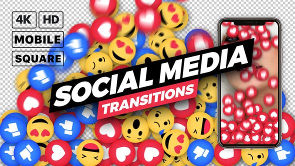 Videohive Social Media Transitions Free Download