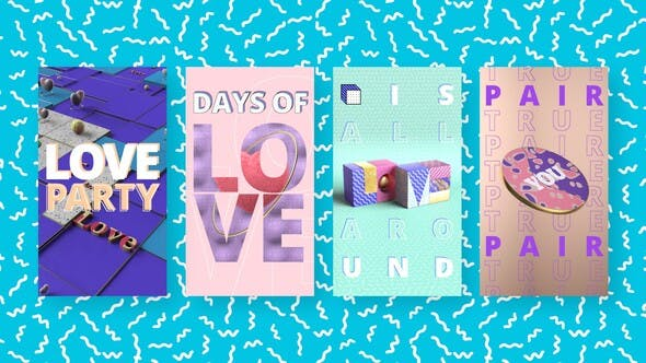 Videohive Colorful Love Stories Free Download