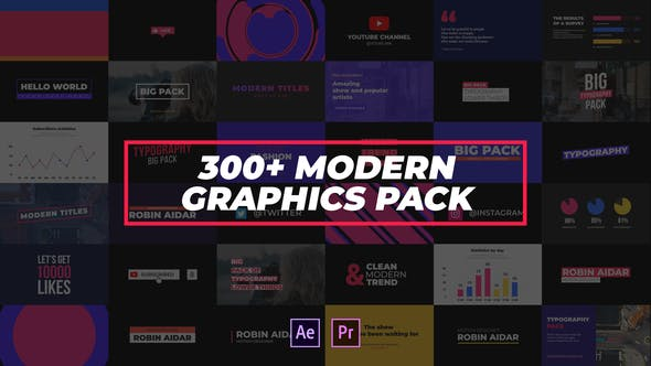 Videohive 300+ Modern Graphics Pack Free Download