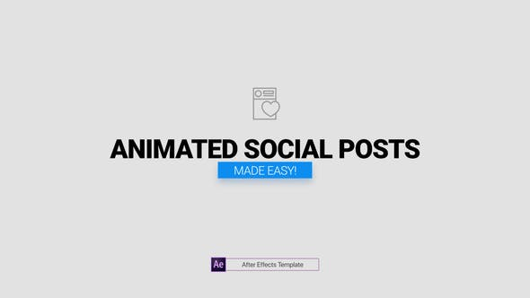 Videohive Animated Social Posts Free Download