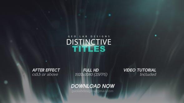 Videohive Distinctive Titles l Particles Lights Titles l Lines Waves Titles Free Download