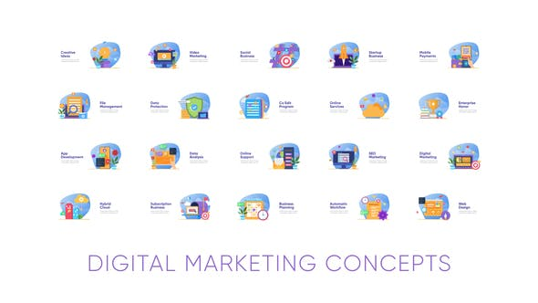 Videohive Digital Marketing Concepts Free Download