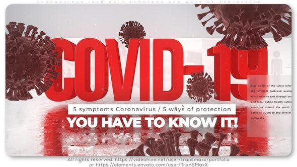 Videohive Coronavirus Info_Main Symptoms and Ways of Protection Free Download