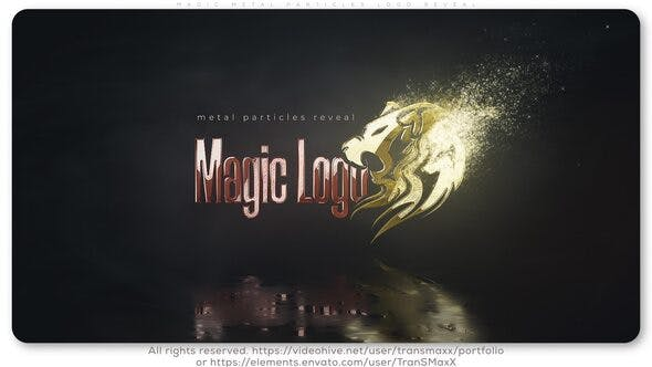 Videohive Magic Metal Particles Logo Reveal Free Download