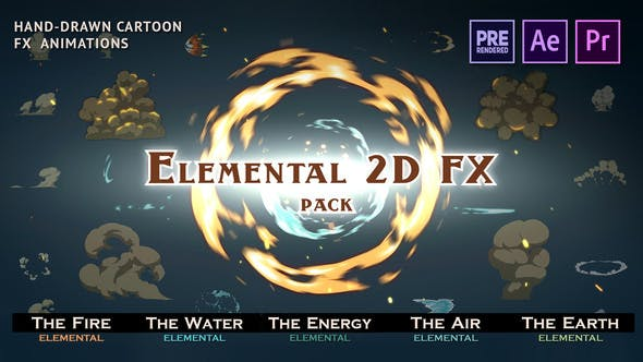 Elemental 2D FX pack [Cracked] 9673890 Free Download AE|PR