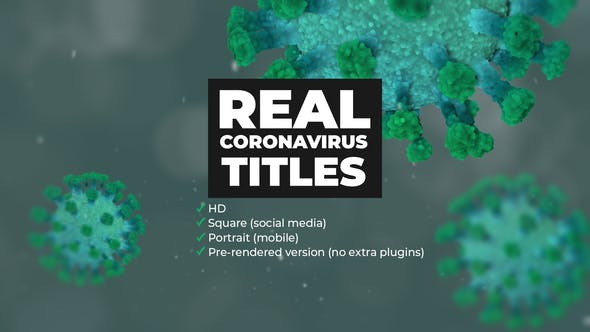Videohive Real Coronavirus Titles Free Download