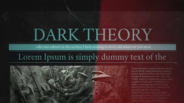 Videohive Dark Theory Free Download