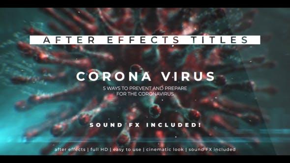 Videohive Corona Virus 3D Titles Free Download