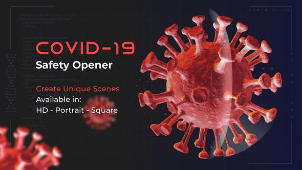 Videohive Covid-19 Safety Opener Free Download
