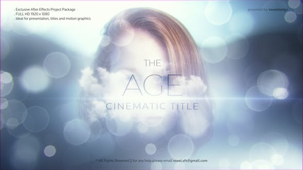 Videohive The Age Cinematic Title Free Download