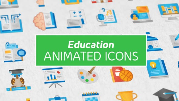 Videohive Education Modern Flat Animated Icons Free Download
