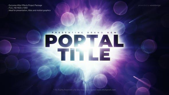 Videohive Portal Cinematic Trailer Free Download
