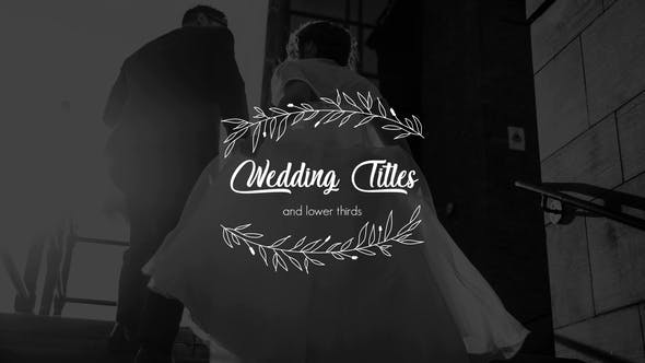 Videohive Wedding Titles and Lower Thirds 26068780 Free
