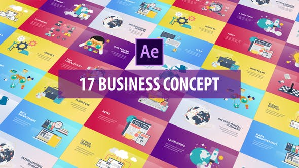 Videohive Business Concept – Flat Animation Free Download