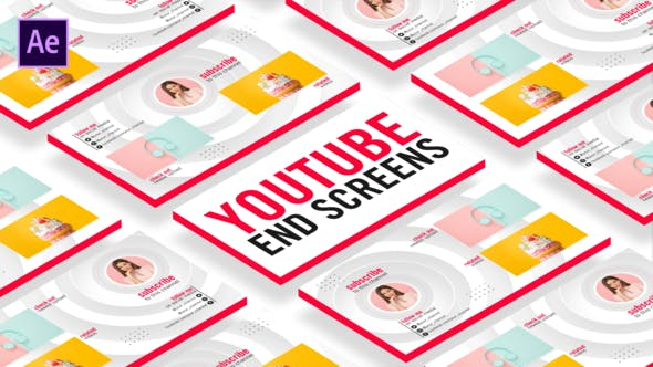 Videohive YouTube End Screens Free Download