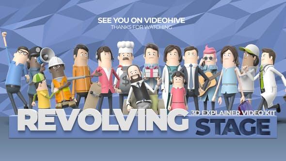 Videohive 3D Explainer Video Kit: Revolving Stage 26414078