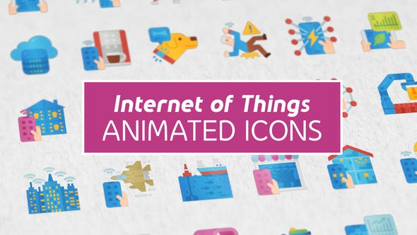 Videohive Internet of Things Modern Flat Animated Icons Free Download