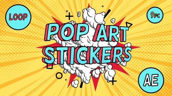 Videohive Pop-Art Sale Stickers Free Download