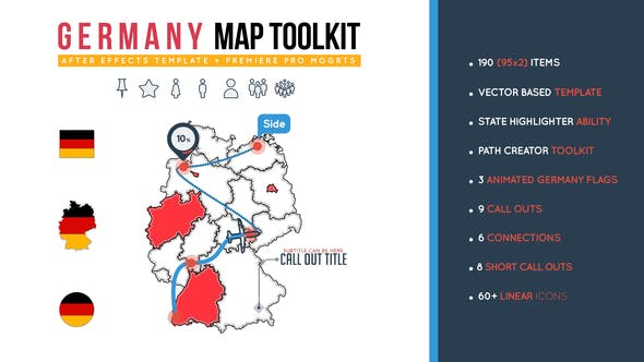 Videohive Germany Map Toolkit Free Download