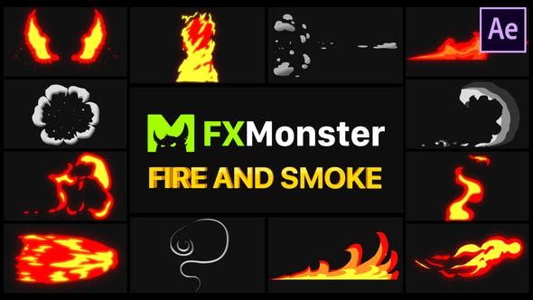 Videohive Fire And Smoke Elements | After Effects Free Download