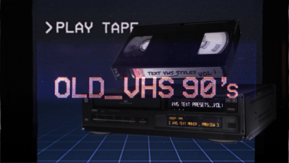 Videohive VHS Glitch Titles Presets Free Download