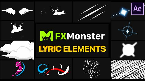 Videohive Lyric Elements | After Effects Free Download